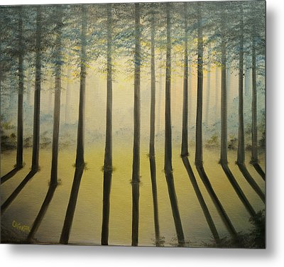 Forest Thru The Trees II Metal Print by Chris Fraser