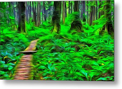 Forest Way - Da Metal Print