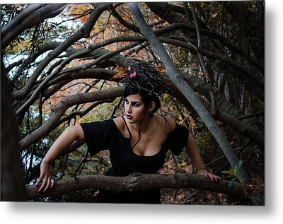 Forest Witch Metal Print by Stefanie Silva