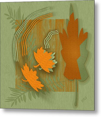Forever Leaves Metal Print by Ben and Raisa Gertsberg