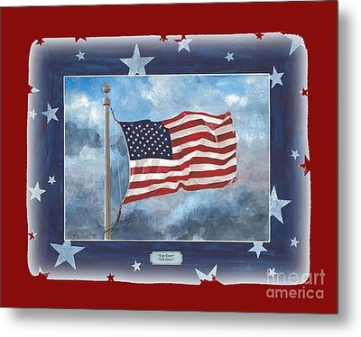 Forever Old Glory  Metal Print by Herb Strobino