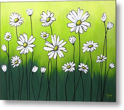 Daisy Crazy Metal Print by Teresa Wing