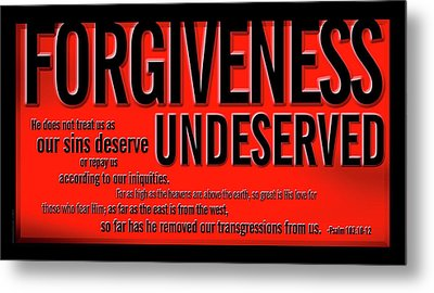 Metal Print featuring the digital art Forgiveness Undeserved by Shevon Johnson
