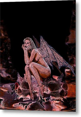 Forgotten Angel Metal Print by Tbone Oliver