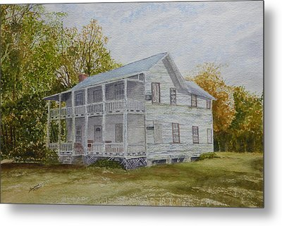 Metal Print featuring the painting Forgotten By Time by Joel Deutsch