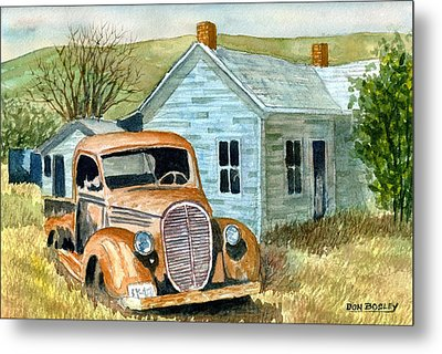 Forgotten Metal Print by Don Bosley