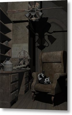 Metal Print featuring the digital art Forgotten Friend by Sipo Liimatainen