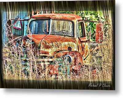 Metal Print featuring the digital art Forgotten Machine by Michael Cleere