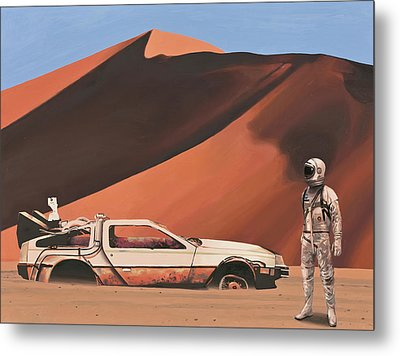 Metal Print featuring the painting Forgotten Time Machine by Scott Listfield