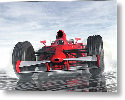 Formula One Racer Metal Print by Carol and Mike Werner