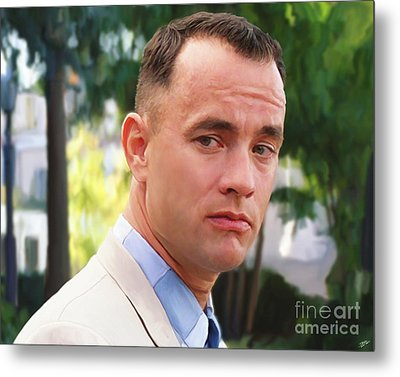 Forrest Gump Metal Print by Paul Tagliamonte