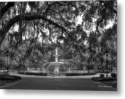 Forsyth Park Fountain 2 Savannah Georgia Art Metal Print by Reid Callaway