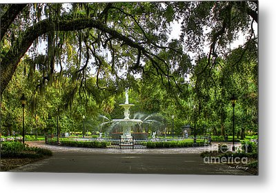 Forsyth Park Fountain Historic Savannah Georgia Metal Print by Reid Callaway