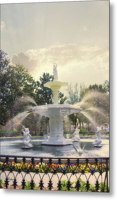 Forsyth Park Fountain - Savannah Metal Print by Paulette B Wright