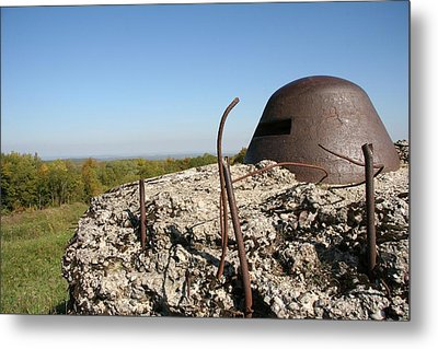 Metal Print featuring the photograph Fort De Douaumont - Verdun by Travel Pics