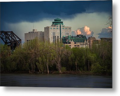 Fort Garry Hotel/fort Garry Place Metal Print by Bryan Scott