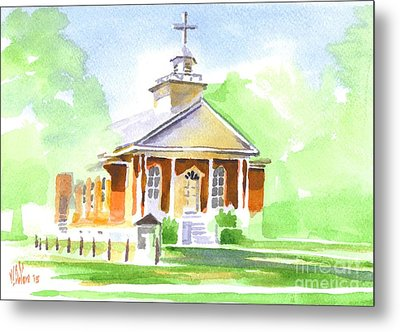 Metal Print featuring the painting Fort Hill Methodist Church 2 by Kip DeVore