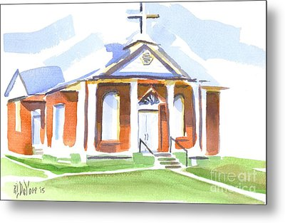 Metal Print featuring the painting Fort Hill Methodist Church by Kip DeVore