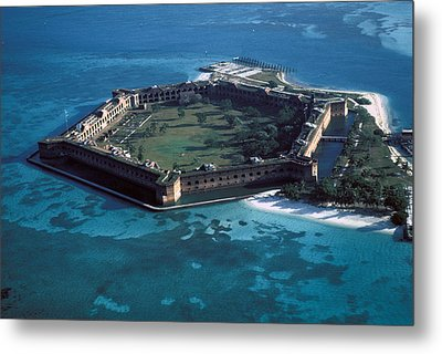 Fort Jefferson Metal Print by Carl Purcell