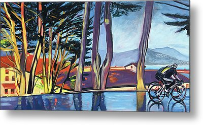 Fort Mason Bike Commute Metal Print by Colleen Proppe