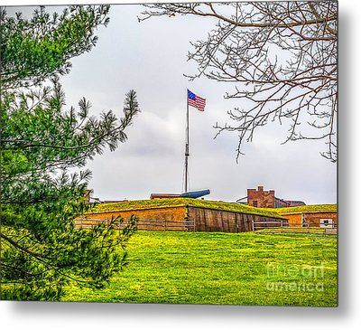 Metal Print featuring the photograph Fort Mchenry National Monument  by Nick Zelinsky