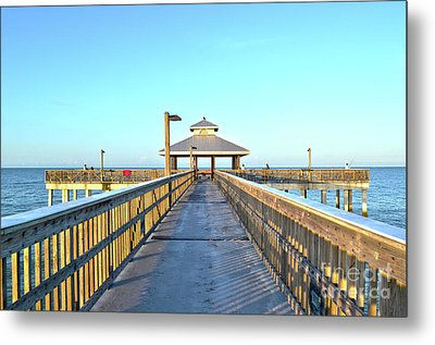 Metal Print featuring the photograph Fort Myers Beach Florida Fishing Pier by Timothy Lowry