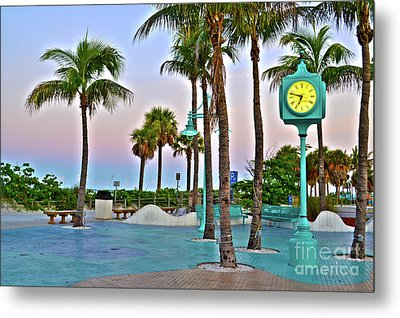 Fort Myers Beach Times Square 1 Metal Print by Timothy Lowry