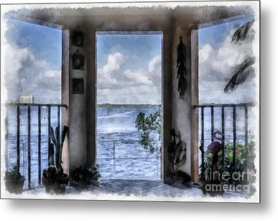 Fort Myers Florida Metal Print by Edward Fielding
