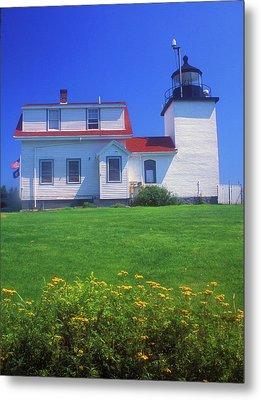 Fort Point Lighthouse Stockton Springs Metal Print by John Burk
