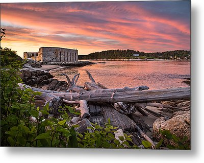 Fort Popham Sunset Metal Print