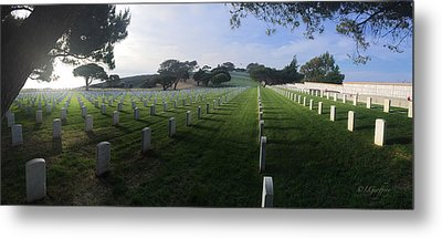 Metal Print featuring the photograph Fort Rosecrans National Cemetery by Lynn Geoffroy