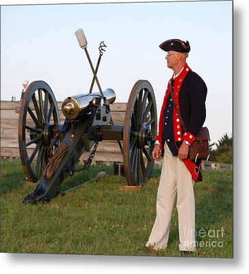 Fort Stanwix Cannon Ready Metal Print by Diane E Berry
