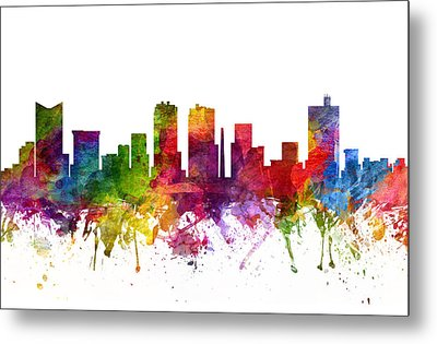 Fort Worth Cityscape 06 Metal Print