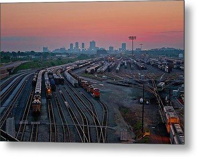 Fort Worth Trainyards Metal Print