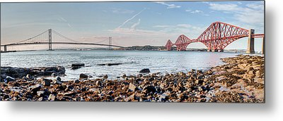 Forth Bridges Panorama Metal Print