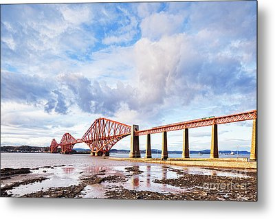 Metal Print featuring the photograph Forth Rail Bridge by Colin and Linda McKie