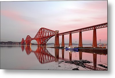 Metal Print featuring the photograph Forth Railway Bridge Sunset by Grant Glendinning