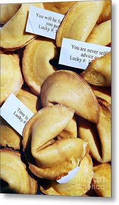 Metal Print featuring the photograph Fortune Cookie by Vivian Krug Cotton
