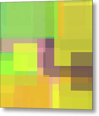 Forty -square- -composition- Metal Print by Coded Images