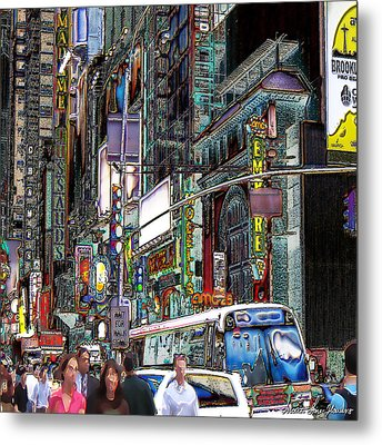 Forty Second And Eighth Ave N Y C Metal Print
