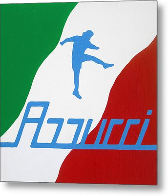 Forza Azzurri Metal Print by Oliver Johnston