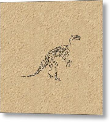 Fossils Of A Dinosaur Metal Print