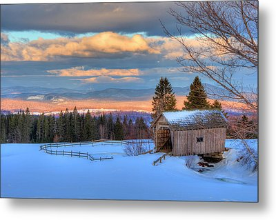 Metal Print featuring the photograph Foster Covered Bridge - Cabot, Vermont by Joann Vitali