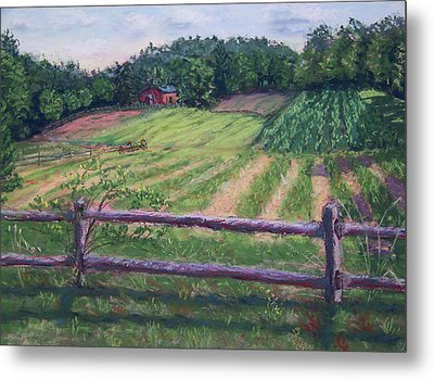Fosterfields Farm Metal Print by Laurie Paci