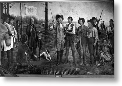 Founding Of New Orleans Metal Print