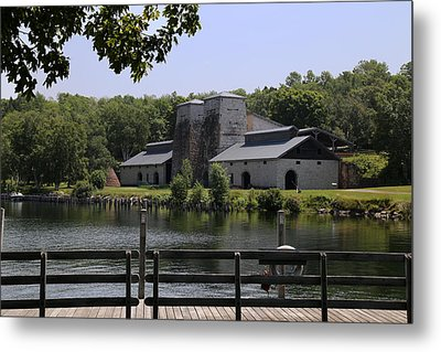 Foundry Building Fayette State  Park 2 Metal Print by Mary Bedy