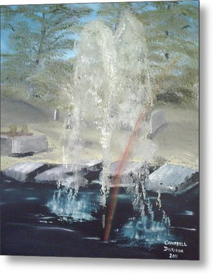 Fountain At Cataraqui Metal Print by Campbell Dickison