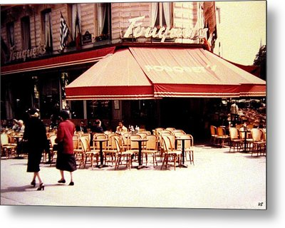Fouquets Of Paris 1955 Metal Print by Will Borden