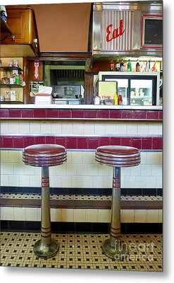 Four Aces Diner Metal Print by Edward Fielding