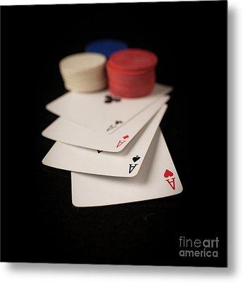 Four Aces Poker Metal Print